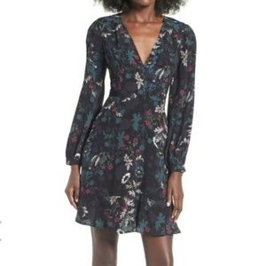 ASTR The Label Black & Floral Dress - Size Medium